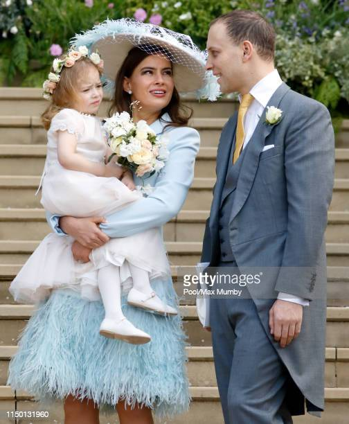 Lady Frederick Windsor Isabella Windsor and Lord Frederick Windsor attend the wedding of Lady Gabriella Windsor and Thomas Kingston at St George's...
