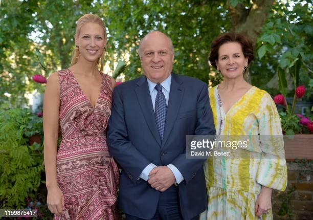 Lady Gabriella Windsor, Ambassador of Colombia to the United Kingdom Antonio José Ardila and Luz Angela Sarmiento attend the Missoma Summer Party at...
