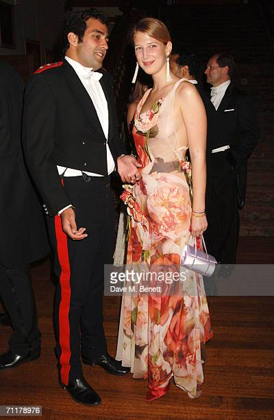 Lady Gabriella Windsor and fiance Aatish Taseer attend the Raisa Gorbachev Foundation Launch Party at Althorp House on June 10 2006 in Northampton...