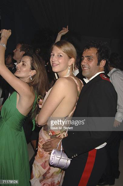 Lady Gabriella Windsor and fiance Aatish Taseer dance during the Raisa Gorbachev Foundation Launch Party at Althorp House on June 10 2006 in...