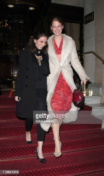Lady Gabriella Windsor and guest during Madonna Launches HM Clothing Range at Langham Hotel in London Great Britain