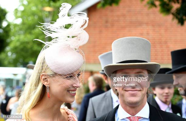 Lady Gabriella Windsor and husband Thomas Kingston attend Ladies Day at Royal Ascot on June 20, 2019 in Ascot, England.