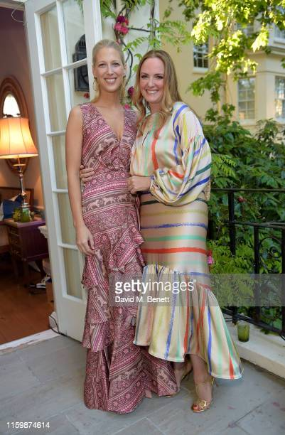 Lady Gabriella Windsor and Marisa Hordern attends the Missoma Summer Party at the Residence of the Embassy of Colombia on July 03, 2019 in London,...