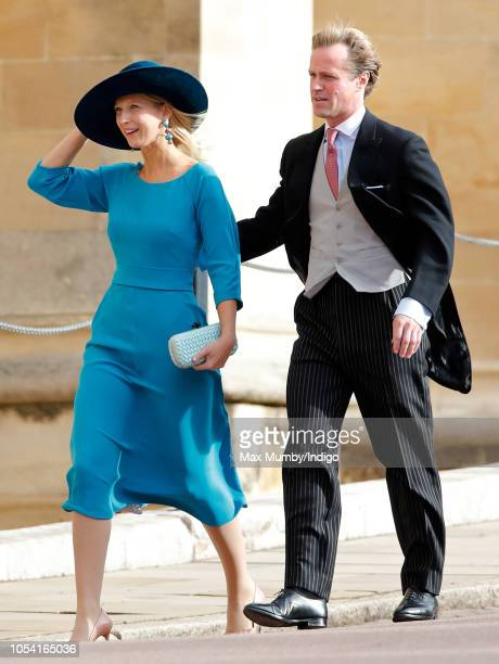 Lady Gabriella Windsor and Thomas Kingston attend the wedding of Princess Eugenie of York and Jack Brooksbank at St George's Chapel on October 12...