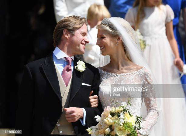Lady Gabriella Windsor and Thomas Kingston leave after marrying in St George's Chapel on May 18 2019 in Windsor England Photo by Andrew Parsons WPA...