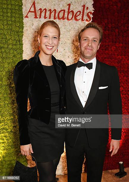 Lady Gabriella Windsor and Tom Kingston attend a VIP preview of the new site for Annabel's 46 Berkeley Square on September 30 2016 in London England
