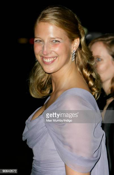 Lady Gabriella Windsor arrives at the home of Lady Annabel Goldsmith for an evening reception after attending the wedding of Lord Frederick Windsor...