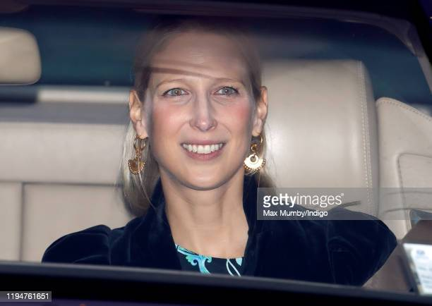 Lady Gabriella Windsor attends a Christmas lunch for members of the Royal Family hosted by Queen Elizabeth II at Buckingham Palace on December 18,...