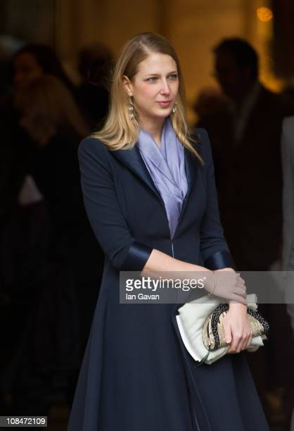 Lady Gabriella Windsor attends the Catherine Walker Memorial Service at St Luke's Church Chelsea on January 28 2011 in London England