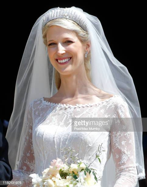 Lady Gabriella Windsor leaves after her wedding to Thomas Kingston at St George's Chapel on May 18, 2019 in Windsor, England.