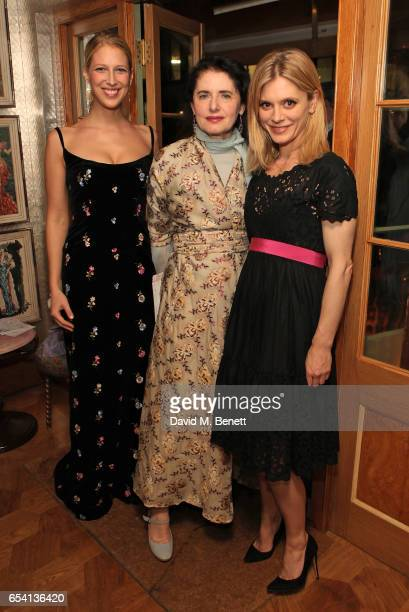 Lady Gabriella Windsor Luisa Beccaria and Emilia Fox attend the Luisa Beccaria and Robin Birley event celebrating Sicilian lifestyle music and...