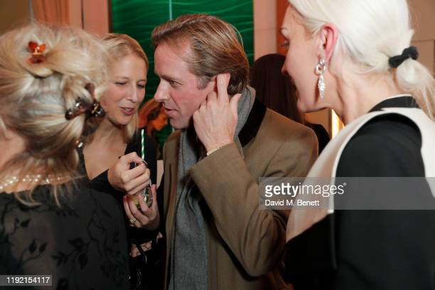 Lady Gabriella Windsor, Thomas Kingston and Olivia Buckingham attend the launch of the Pragnell collection created in collaboration with Lady Emily...