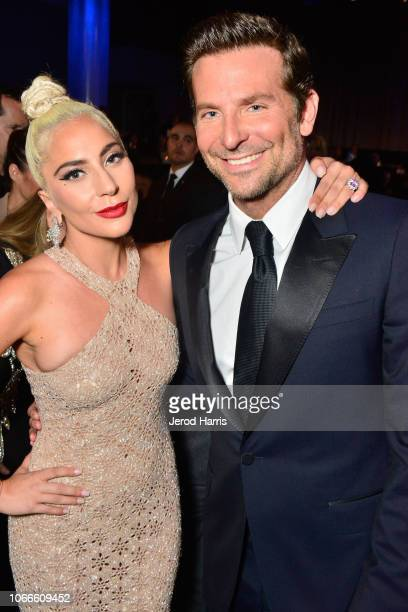 Lady Gaga and Bradley Cooper attend the 32nd American Cinematheque Award Presentation Honoring Bradley Cooper Presented by GRoW @ Annenberg...
