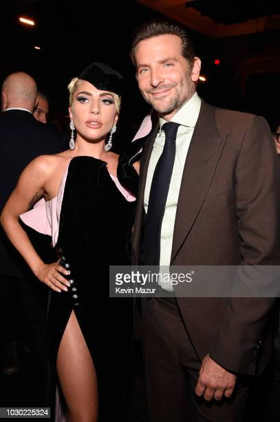 Lady Gaga and Bradley Cooper attend the A Star Is Born premiere after party during 2018 Toronto International Film Festival at Masonic Temple on...