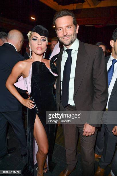Lady Gaga and Bradley Cooper attend the Audi Canada And Links Of London CoHosted PostScreening Event For 'A Star Is Born' During The Toronto...