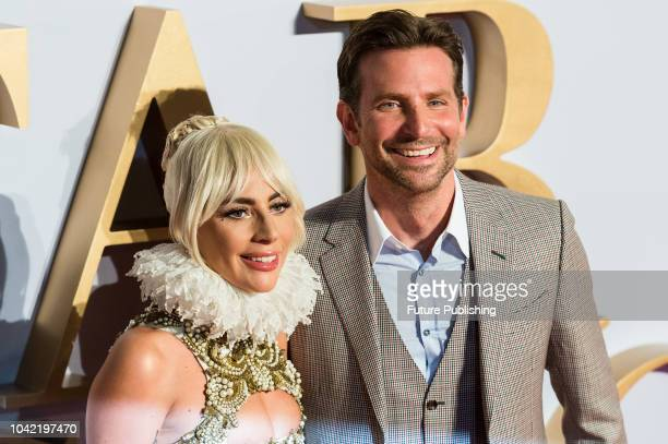 Lady Gaga and Bradley Cooper attend the UK film premiere of 'A Star Is Born' at Vue West End in London September 27 2018 in London United Kingdom