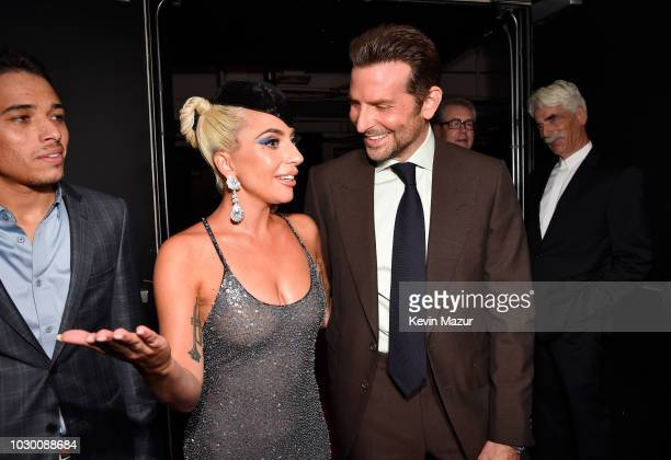 Lady Gaga and Bradley Cooper attends the A Star Is Born premiere during 2018 Toronto International Film Festival at Roy Thomson Hall on September 9...