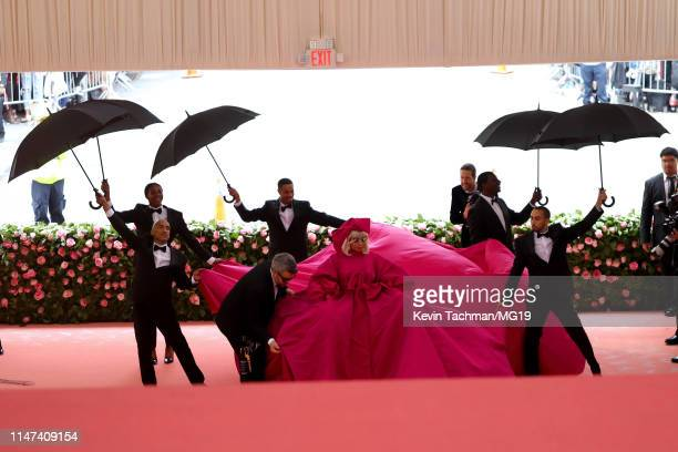 Lady Gaga and Brandon Maxwell attend The 2019 Met Gala Celebrating Camp Notes on Fashion at Metropolitan Museum of Art on May 06 2019 in New York City