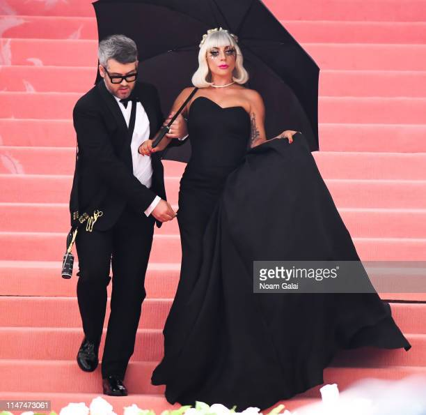 Lady Gaga and Brandon Maxwell attend the 2019 Met Gala Celebrating 'Camp Notes on Fashion' at Metropolitan Museum of Art on May 06 2019 in New York...