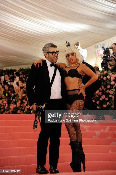 Lady Gaga and Brandon Maxwell attend the The 2019 Met Gala Celebrating Camp Notes On Fashion at The Metropolitan Museum of Art on May 6 2019 in New...