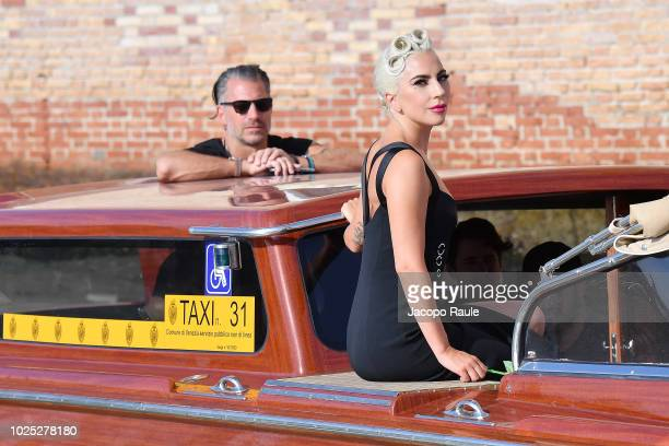 Lady Gaga and Christian Carino are seen during the 75th Venice Film Festival on August 30 2018 in Venice Italy