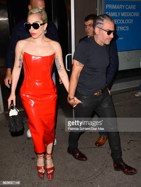 Lady Gaga and Christian Carino are seen on May 29 2018 in New York City
