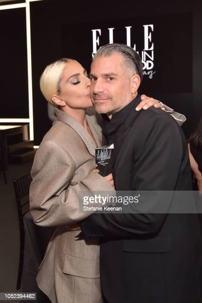 Lady Gaga and Christian Carino attend ELLE's 25th Annual Women In Hollywood Celebration presented by L'Oreal Paris Hearts On Fire and CALVIN KLEIN at...