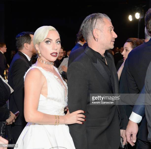 Lady Gaga and Christian Carino the 25th Annual Screen Actors Guild Awards at The Shrine Auditorium on January 27 2019 in Los Angeles California