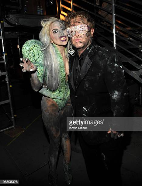 Lady Gaga and Elton John attends the 52nd Annual GRAMMY Awards held at Staples Center on January 31, 2010 in Los Angeles, California.