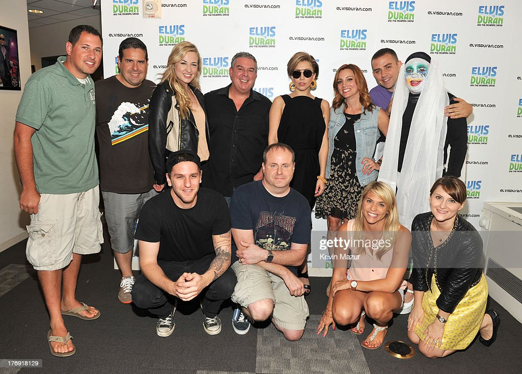 Lady Gaga and Elvis Duran and the Z100 Morning Show at Z100 Studio on August 19, 2013 in New York City.