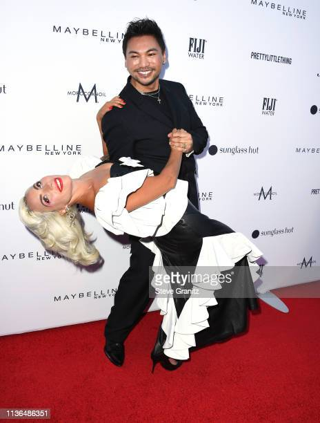 Lady Gaga and Frederic Aspiras attends the Daily Front Row's 5th Annual Fashion Los Angeles Awards at Beverly Hills Hotel on March 17 2019 in Beverly...