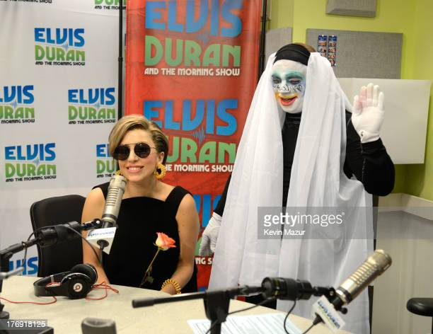 Lady Gaga and Greg T at Elvis Duran and the Z100 Morning Show at Z100 Studio on August 19 2013 in New York City