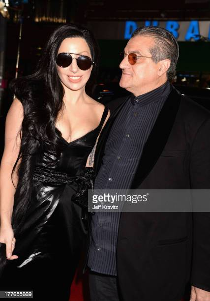 Lady Gaga and her father Joe Germanotta attend the 2013 MTV Video Music Awards at the Barclays Center on August 25 2013 in the Brooklyn borough of...
