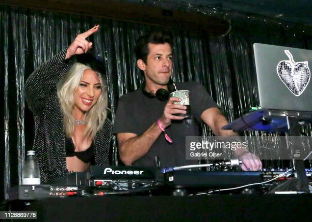 Lady Gaga and Mark Ronson attend Mark Ronson's 'Club Heartbreak' Grammy Party sponsored by Absolut Elyx on February 10 2019 in Los Angeles California