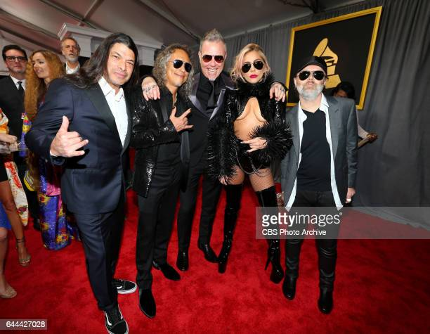 Lady Gaga and Metallica on the Red Carpet at THE 59TH ANNUAL GRAMMY AWARDS broadcast live from the STAPLES Center in Los Angeles Sunday Feb 12 on the...