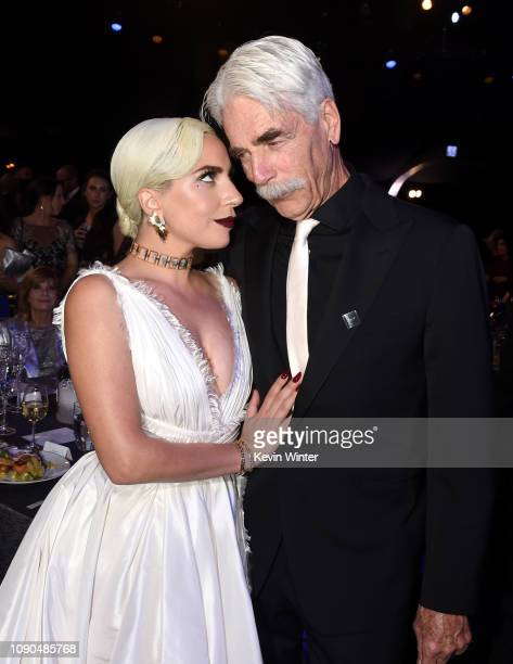 Lady Gaga and Sam Elliott attend the 25th Annual Screen ActorsGuild Awards at The Shrine Auditorium on January 27 2019 in Los Angeles California...