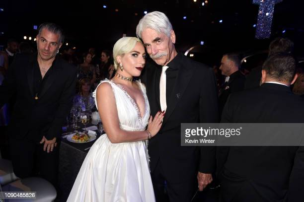 Lady Gaga and Sam Elliott attend the 25th Annual Screen ActorsGuild Awards at The Shrine Auditorium on January 27, 2019 in Los Angeles, California....