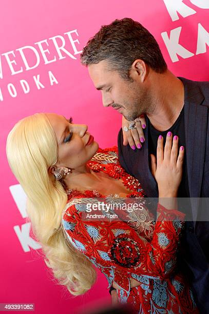 Lady Gaga and Taylor Kinney attend 'Rock The Kasbah' New York premiere at AMC Loews Lincoln Square 13 theater on October 19 2015 in New York City