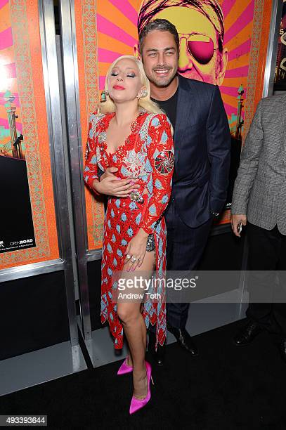 Lady Gaga and Taylor Kinney attend Rock The Kasbah New York premiere at AMC Loews Lincoln Square 13 theater on October 19 2015 in New York City