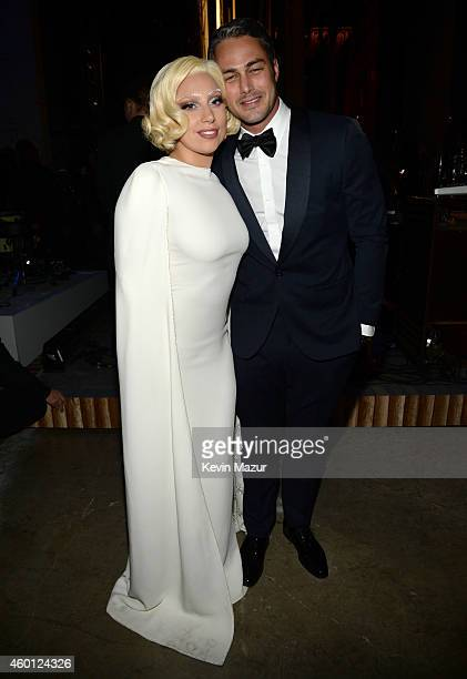 Lady Gaga and Taylor Kinney attend the 37th Annual Kennedy Center Honors at The John F Kennedy Center for Performing Arts on December 7 2014 in...