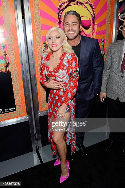 Lady Gaga and Taylor Kinney attend the 'Rock The Kasbah' New York premiere at AMC Loews Lincoln Square 13 theater on October 19 2015 in New York City