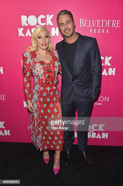 """Lady Gaga and Taylor Kinney attend the """"Rock The Kasbah"""" New York Premiere at AMC Loews Lincoln Square 13 theater on October 19, 2015 in New York..."""