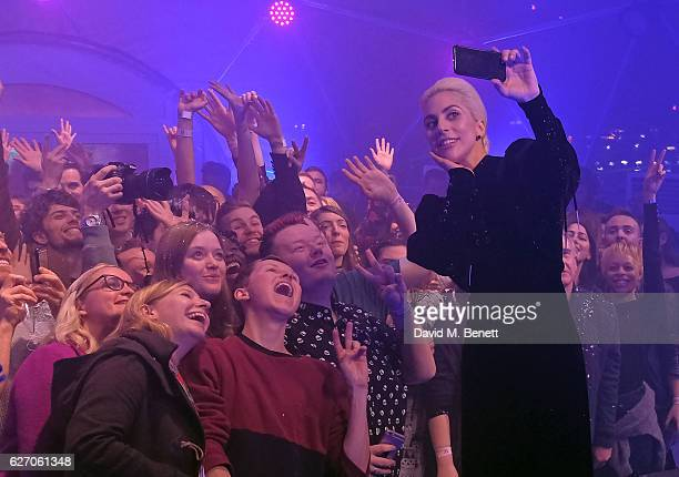 Lady Gaga and Westfield London surprised fans with intimate festive performance and wished the capital a happy holiday season on December 1 2016 in...