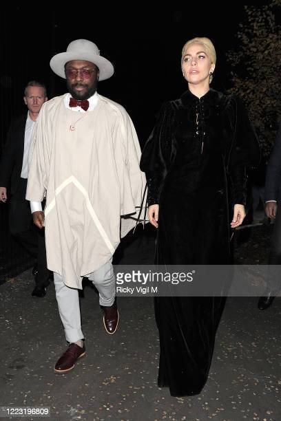 Lady Gaga and Will.i.am seen arriving at Tate Modern on December 01, 2016 in London, England.
