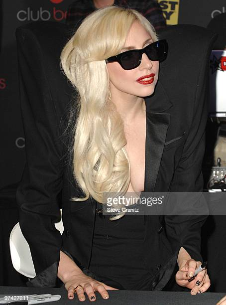 Lady Gaga appears at InStore Appearance at Best Buy on November 23 2009 in Los Angeles California