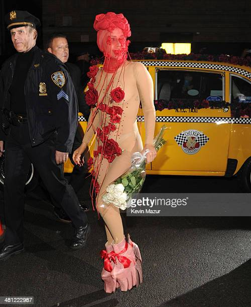Lady Gaga arrives at Roseland Ballroom on March 28 2014 in New York City