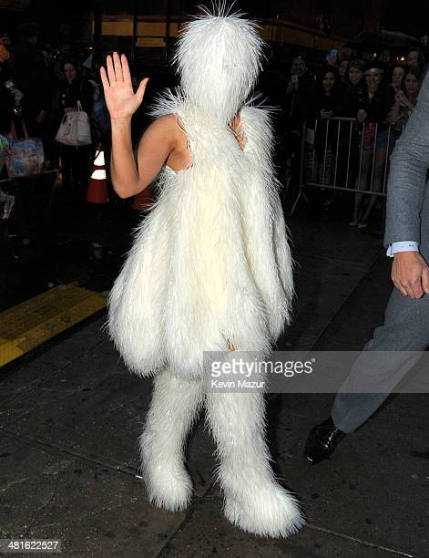 Lady Gaga arrives at Roseland Ballroom on March 30 2014 in New York City