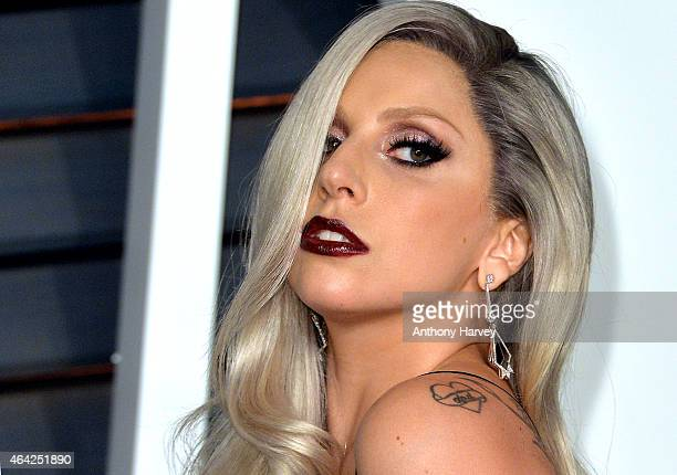 Lady Gaga arrives at the 2015 Vanity Fair Oscar Party Hosted By Graydon Carter at Wallis Annenberg Center for the Performing Arts on February 22 2015...