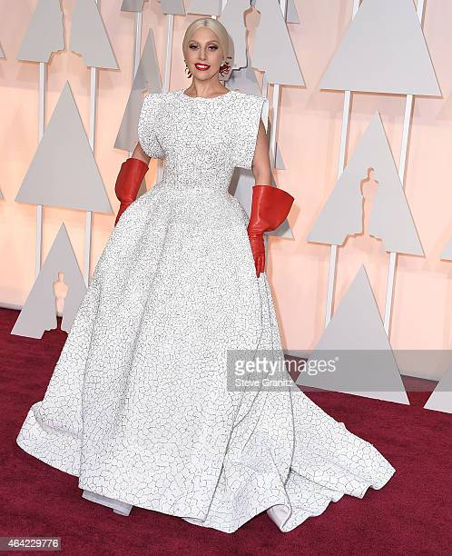 Lady Gaga arrives at the 87th Annual Academy Awards at Hollywood Highland Center on February 22 2015 in Hollywood California