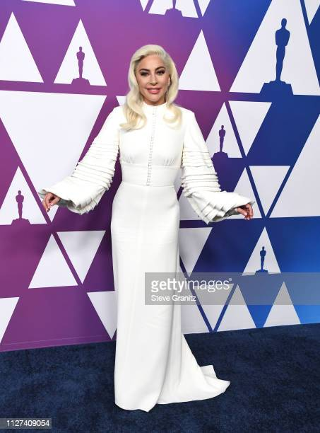 Lady Gaga arrives at the 91st Oscars Nominees Luncheon at The Beverly Hilton Hotel on February 04 2019 in Beverly Hills California